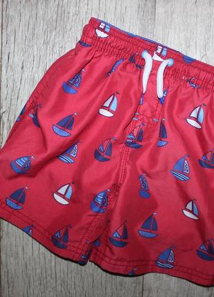 Шорты шортики красные кораблики некст next 2-3 года, рост 92-98 см.1