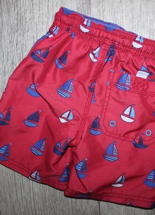 Шорты шортики красные кораблики некст next 2-3 года, рост 92-98 см.2