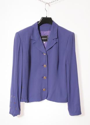 Редкий винтажный классический пиджак блейзер versace jeans couture