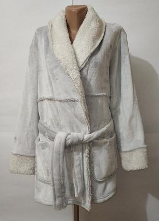 Красивый мягкий плюшевый халат пижама fiore matalan uk 10/38/\s