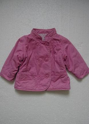 Пиджак котоновый на девочку 6-9 мемяцев