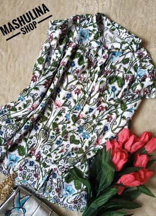 Шикарная вискозная блуза с оборкой фирмы tu