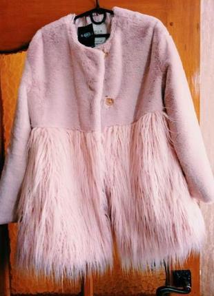 Стильная шуба, пальто из эко меха