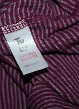 Стильная нарядная футболка бордо tu 3 года, рост 98 см.4