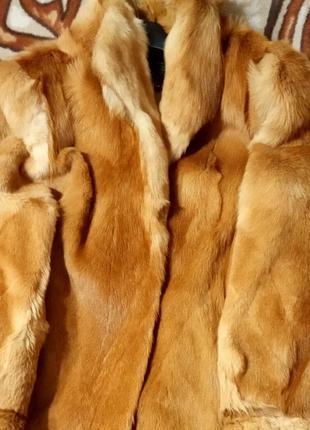 Шикарная натуральная шуба, полушубок из лисы