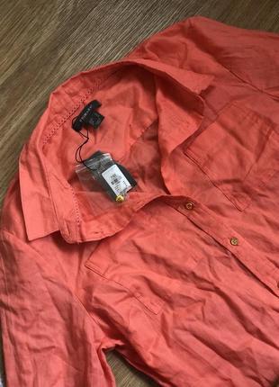 Женская платье - рубашка «персик» 🍑