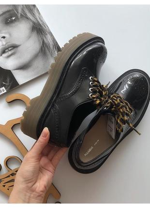 Новые туфли броги pull&bear на платформе pp 39