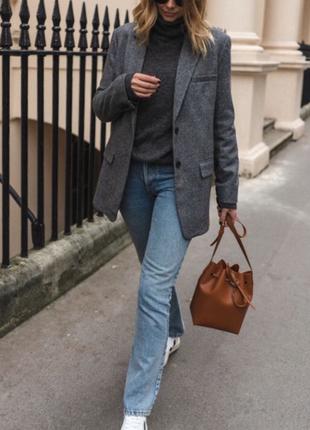 Шикарный шерстяной пиджак mango р s