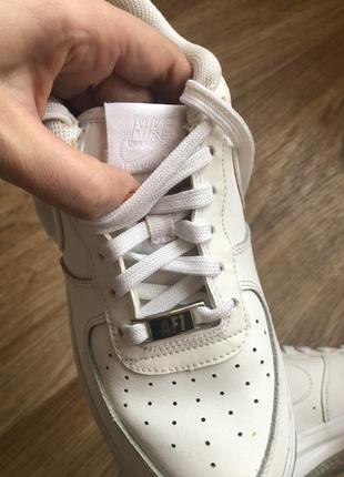 Кожаные женские кроссовки nike air