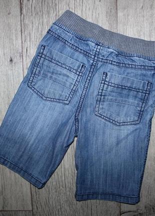 Модные бриджи шорты джинсовые серая резинка tu 2-3 года, рост 92-98 см.2