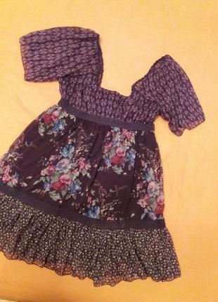 Стильное летнее платье м  stradivarius