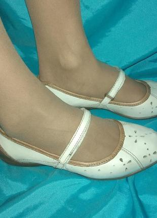 Кожаные туфли балетки footglove р 36 сост новых