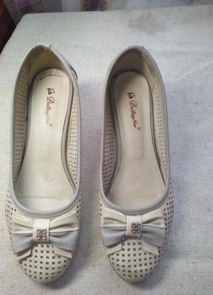 Летние туфли, размер 39