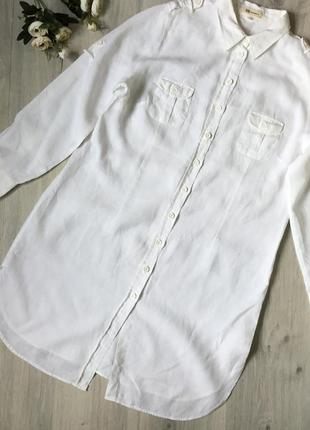 Фирменное льняное платье nadine h, размер 46