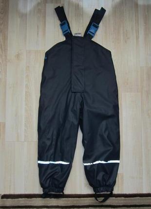 Непромокаемые штаны дождевик на флисе