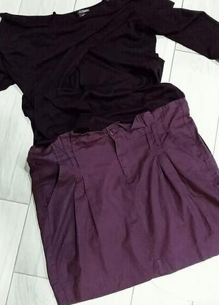 Хлопковая юбка- бочонок l- xl/ 48-50 размер