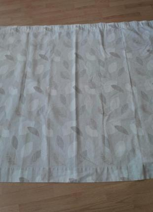 Штора-гардина на подкладке 100% лен
