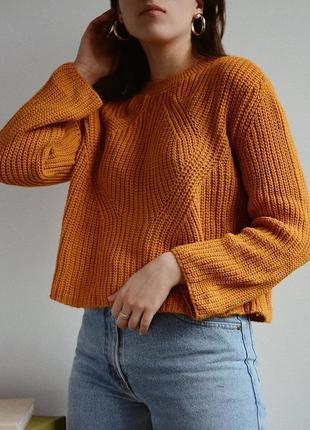 Горчичный вязаный свитер от primark 💜