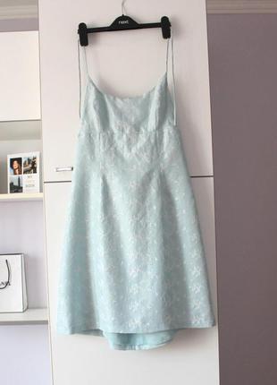 Шелковое расшитое платье от warehouse, 100% шелк