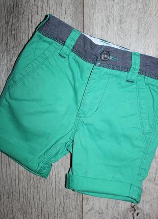 Стильные зеленые шорты бриджи джинс некст next 3 года, рост 98 см.