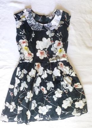Невесомое платье 100% котон цветочный принт be beau в стиле kenzo италия