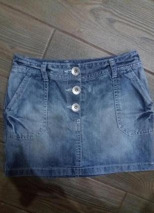 Джинсовая юбка next на 7лет 122см в отличном состоянии