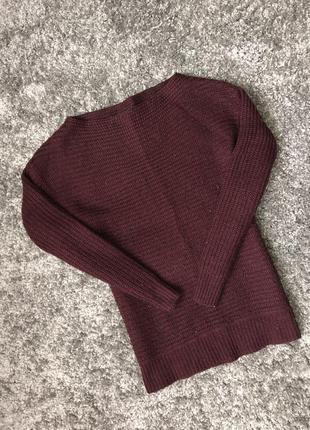 Женский бордо свитер