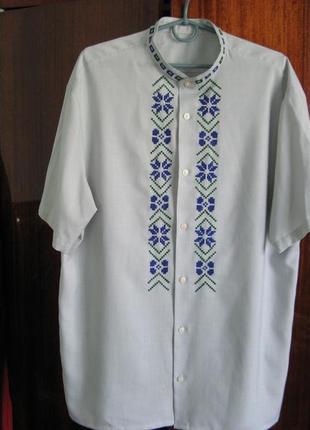 Рубашка с ручной вышивкой, стильная вышиванка