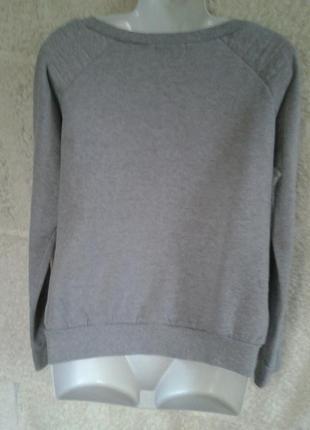 Свитшот светло-серый с принтом2 фото