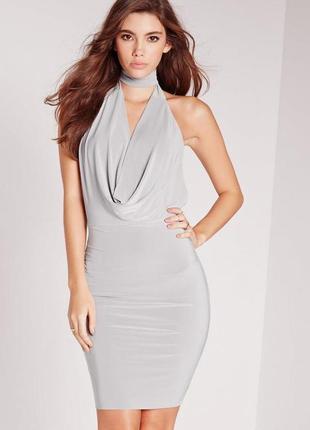 Cтильное бандажное платье с чокером missguided