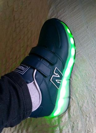 Светящиеся кроссовки ролики на колесиках р. 30-33 с led подсветкой8