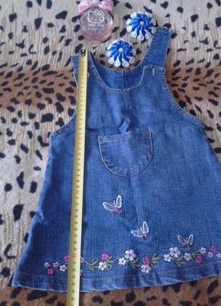 Крутецкий джинсовый сарафан.3 фото