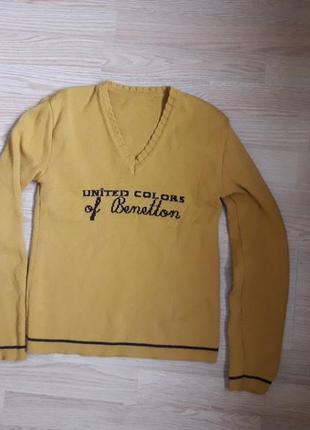 Милашный горчичный свитерок