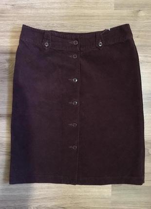 Актуальная вельветовая юбка цвета марсала!!!