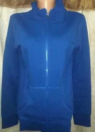 Синяя кофта спорт, худи от blue motion, германия, размер s 36-38 европейский (наш 42-44)
