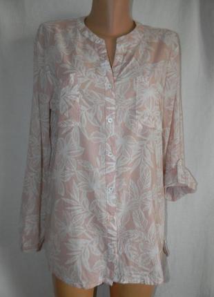 Натуральная блуза рубашк laura ashley