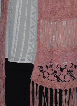 Удлиненная жилетка с вышивкой и висюльками. george3 фото