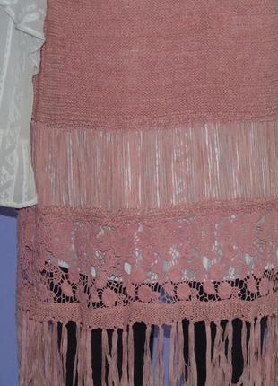 Удлиненная жилетка с вышивкой и висюльками. george4 фото