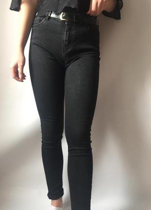 Базовые джинсы с высокой талией h&m