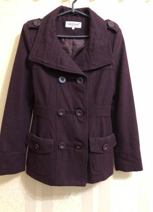 Винное пальто от clockhouse
