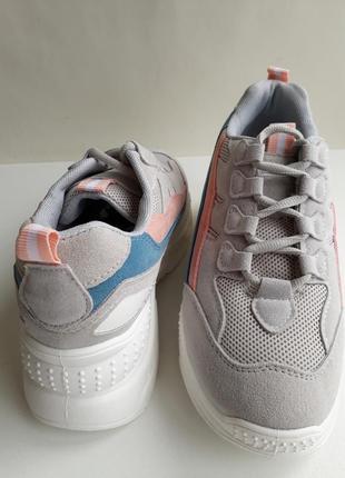 Жіночі кросівки (кроссовки) сірого кольору, розміри 37, 38.5 фото