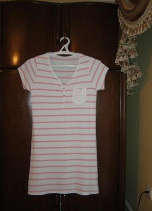 Ночная сорочка bhs, 100% хлопок, размер 8-10