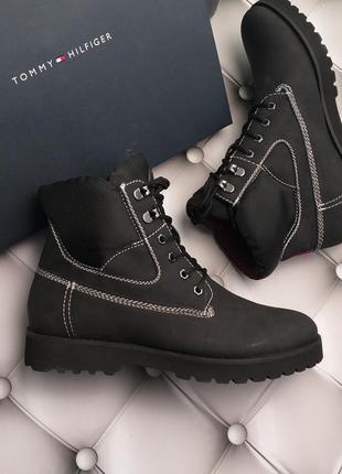 Tommy hilfiger оригинал ботинки на шнуровке на тракторной подошве бренд из сша