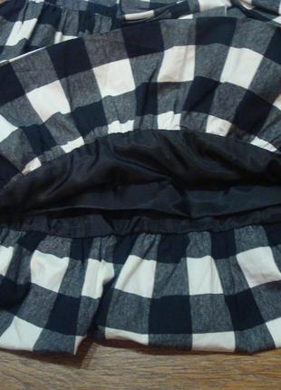 Красивое клетчатое платье young dimension 9-10 лет с бантом2 фото