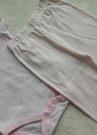 Комплект 2в1 набор бодик футболка и штаны лосины на 9-18 мес