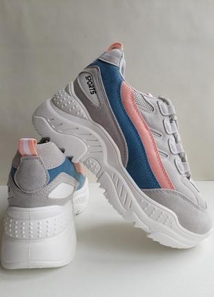 Жіночі кросівки ( кроссовки ) сірого кольору.