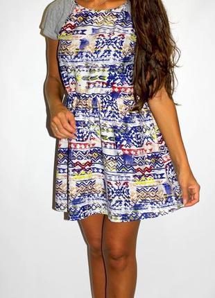 Яркое платье в орнаментах - срочная уценка товара --