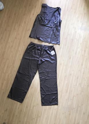 Шелковая атласная пижама kleo