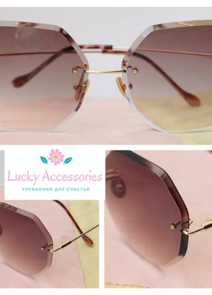 Красивые очки в коричневом цвете