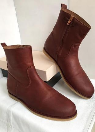 Ботинки челси кожаные демисезонные, комфортные belly button 40/41 размер.
